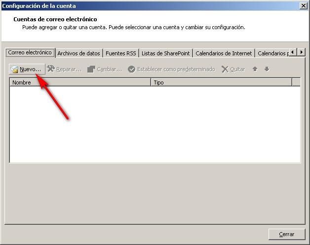 Cómo configurar tu correo electrónico en Microsoft Outlook 2
