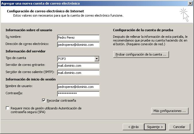Cómo configurar tu correo electrónico en Microsoft Outlook 5