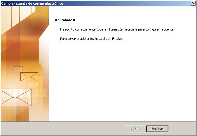 Cómo configurar tu correo electrónico en Microsoft Outlook 8