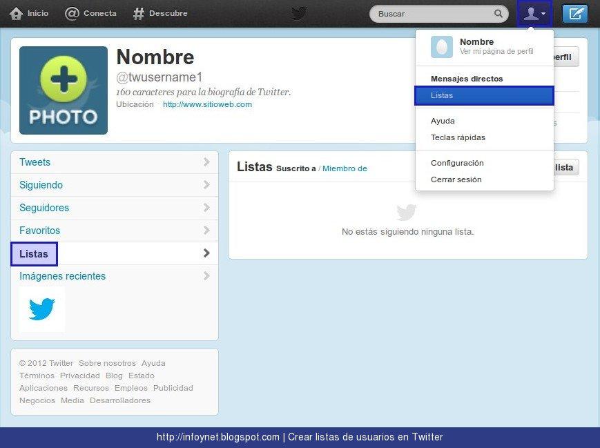 Cómo configurar listas en Twitter 1