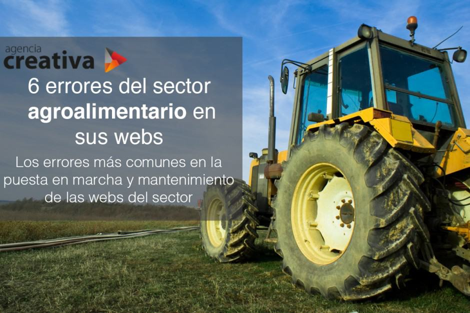 6 errores del sector agroalimentario en sus webs