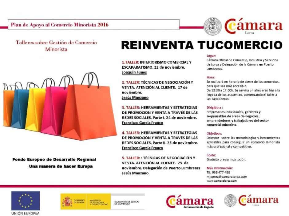La Cámara de Lorca ofrece formación en redes sociales a los comercios