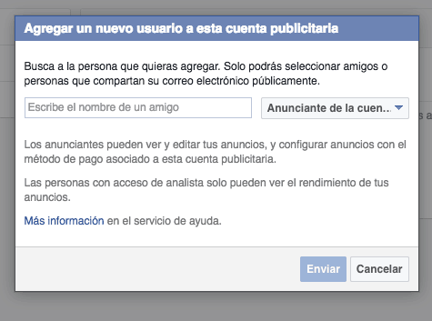 Cómo añado un usuario a mi cuenta publicitaria de Facebook 4