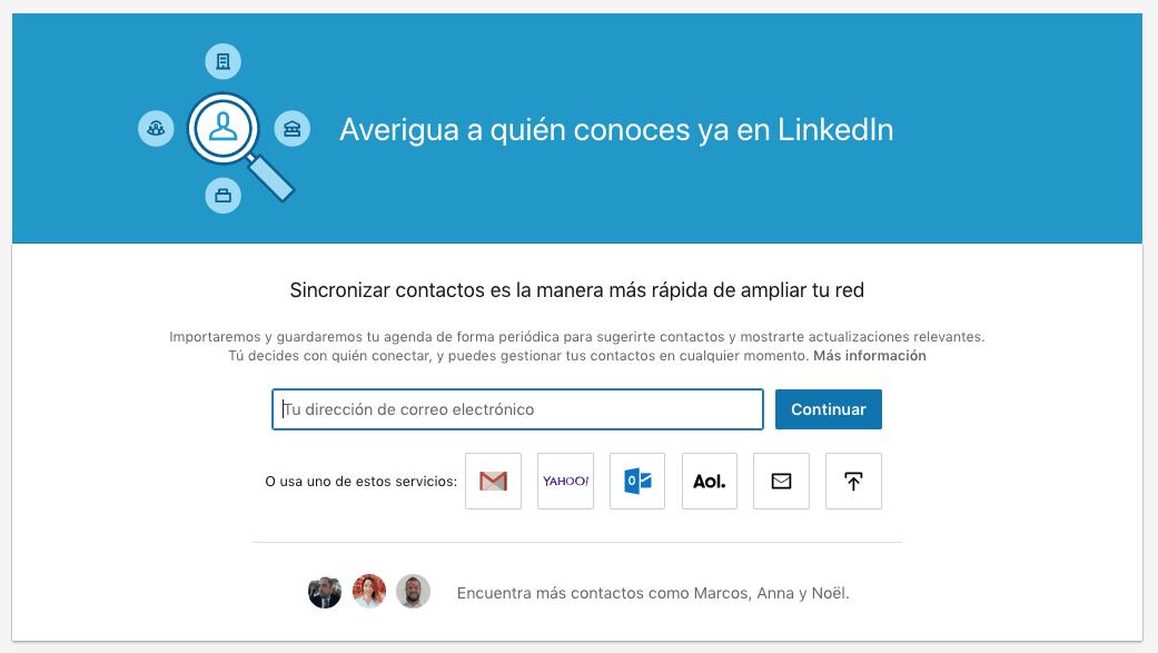 Cómo importar contactos de correo o CRM a tu red de LinkedIn 3