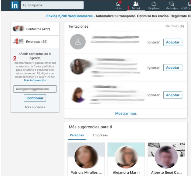 Cómo importar contactos de correo o CRM a tu red de LinkedIn 1
