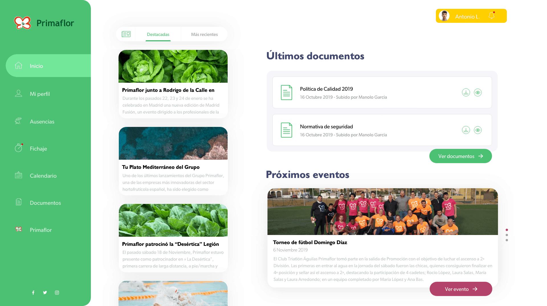 Primaflor │ Plataforma de recursos humanos 25